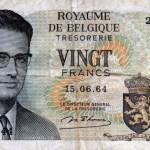 Boudewijn I op een biljet van 20 Belgische francs - cc