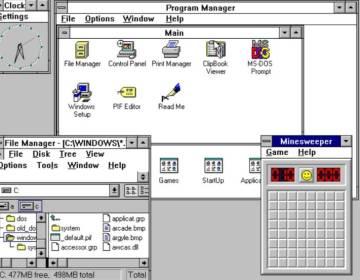 Windows 3, zo zag het eruit