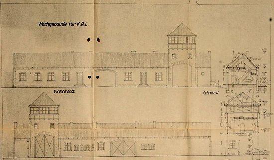 Detail van een van de gevonden bouwtekeningen (Bron: Bild.de)