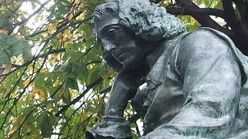 Beeld van Spinoza in Den Haag (Frédéric Hexamer, 1880)