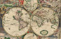 Wereldkaart van Gerrit van Schagen uit 1689