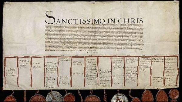 Brief Hendrik VIII aan paus nagemaakt