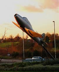 Monument voor Frank Whittle in Lutterworth