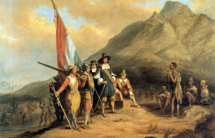 De landing van Jan van Riebeeck door Charles Bell