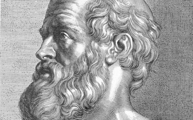 Hippocrates (illustratie uit 1925)