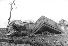Restanten van Hitlers bunker in Berlijn