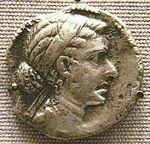 Munt met beeltenis van de Egyptische heerseres
