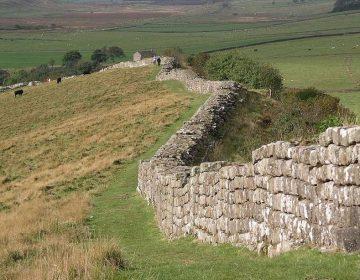 Stukken van de muur van Hadrianus bij Greenhead. - cc