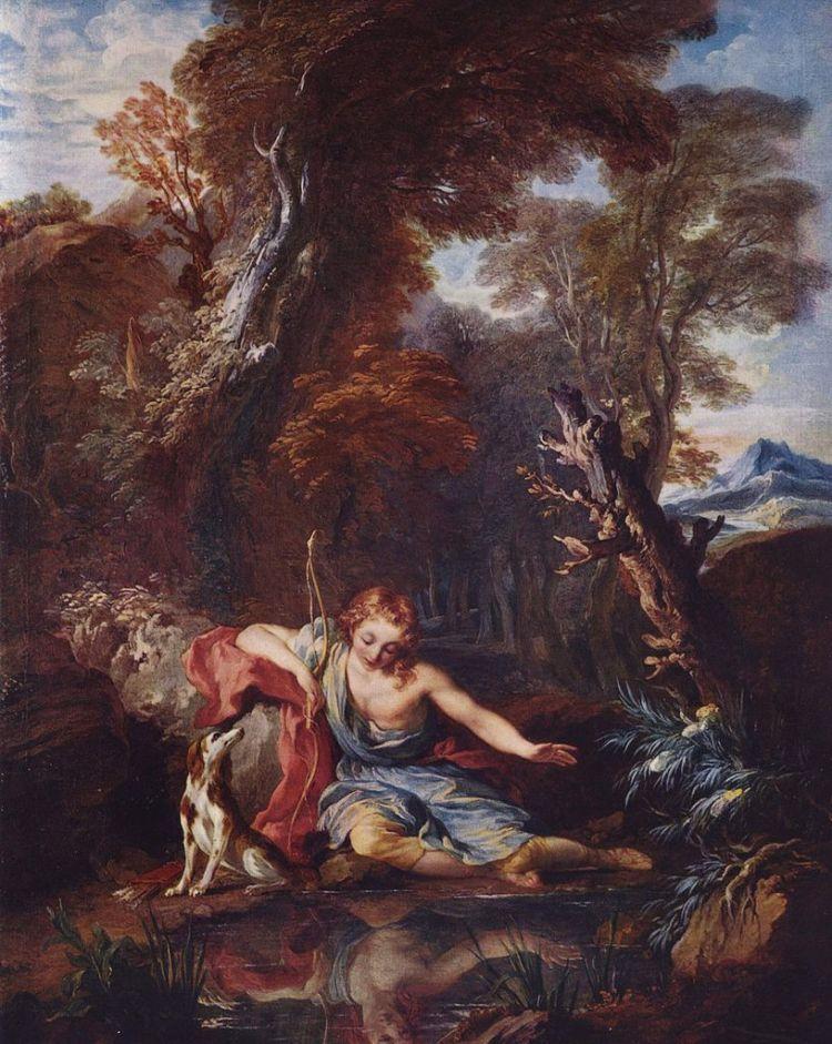 Narcissus bij het water - François Lemoyne, ca. 1728