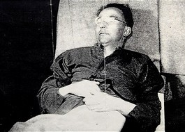Het levenloze lichaam van Himmler