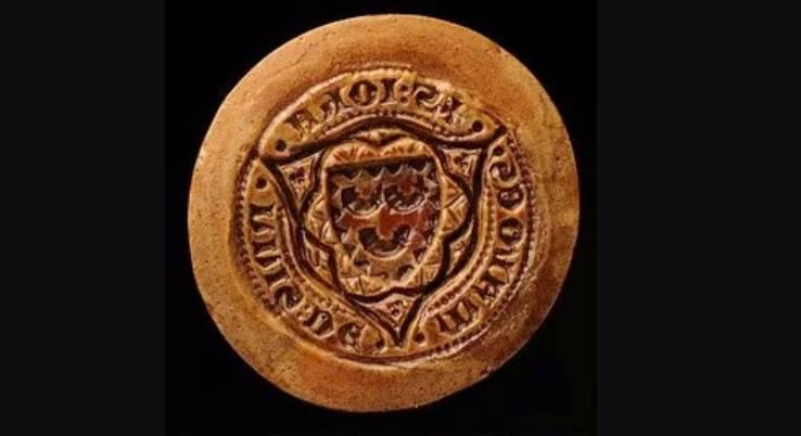 Afdruk van een zegel van Jean van Goor, 1374 – Foto: Algemeen Rijksarchief