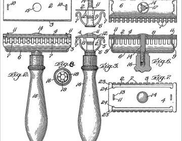 Patenttekening van Gillette (wiki)
