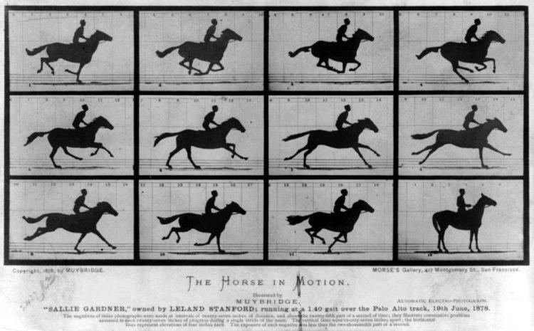 Beroemde fotoserie van Eadweard Muybridge