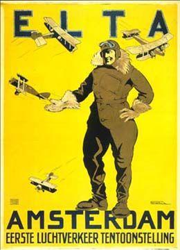 Affiche van Brian de Kruyff Dorssen voor de ELTA, 1919