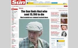 The Sun spoorde Laszlo Csatary een jaar geleden op