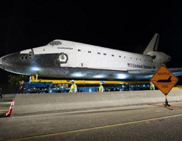 De Endeavour in Los Angeles - Foto: NASA