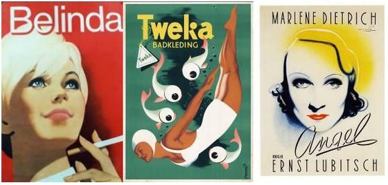 Drie affiches van Frans Mettes – Afb: Spoorwegmuseum