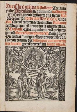 Voorpagina van de Divisiekroniek; de eerste kroniek in de landstaal (Historici.nl)