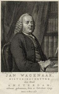 Jan Wagenaar werd later de officiële historieschrijver van Amsterdam