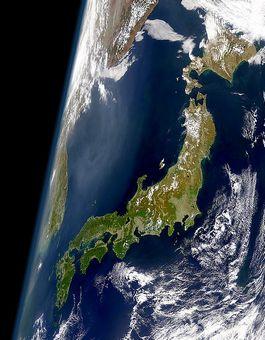Satellietfoto van Japan (NASA)