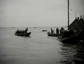 Reddingsboten tijdens de Watersnoodramp