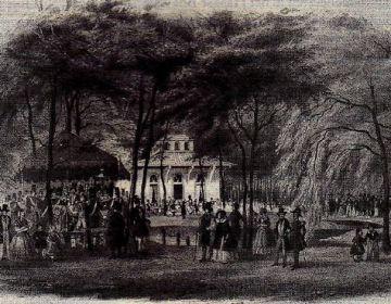 De buitensociëteit van 'De Witte' in het Haagse Bos (1844) – Haags Gemeentearchief