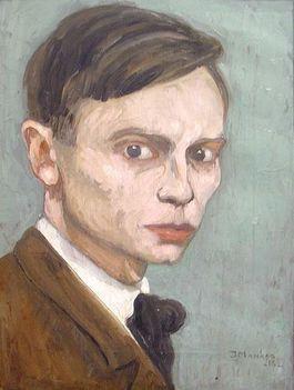 Zelfportret van Jan Mankes