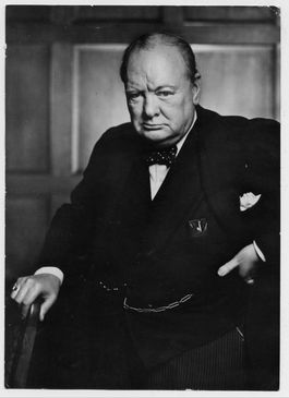 De 'bulldog' Winston Churchill