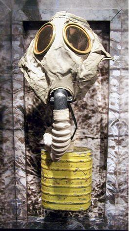 Gasmasker uit de Eerste Wereldoorlog