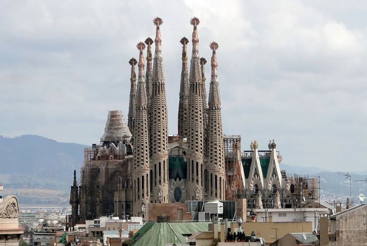De Sagrada Familia van Antoni Gaudí - cc