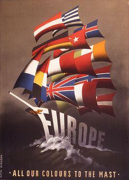 Poster van het Marshall plan