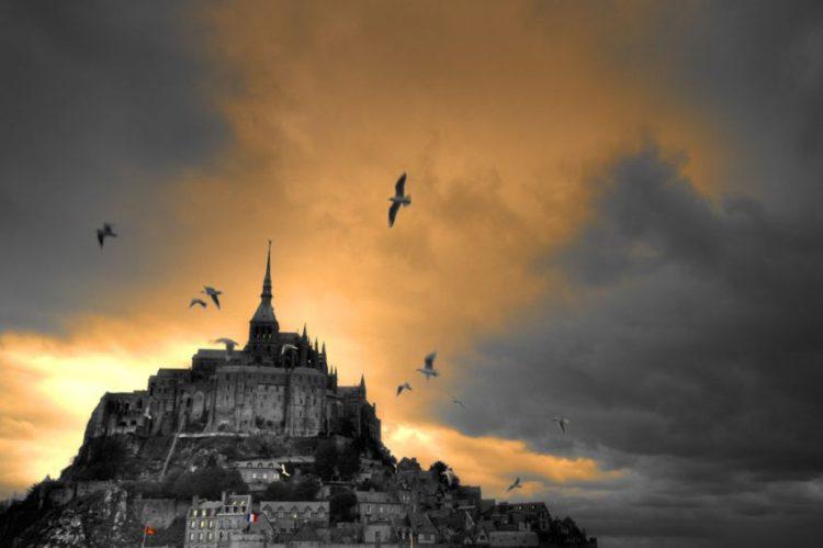 Zonsondergang bij Mont-Saint-Michel - cc