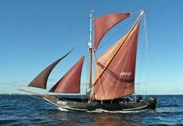 De 'ARM 17' Hoogaars, een van de schepen in Vlissingen - Foto: sailderuyter.nl