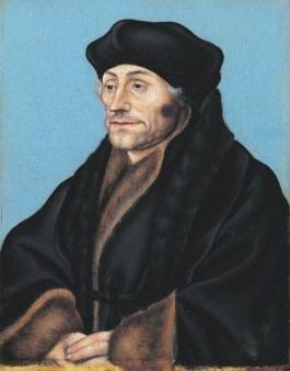 Portret van Desiderius Erasmus - Lucas Cranach de Oude, ca. 1530-1536 (Boijmans Van Beuningen)