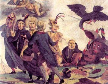 Allegorie op de Brabantse omwenteling, anoniem, 1787-1790