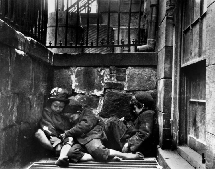 Slapende kinderen in Mulberry Street, 1890 - Jacob Riis