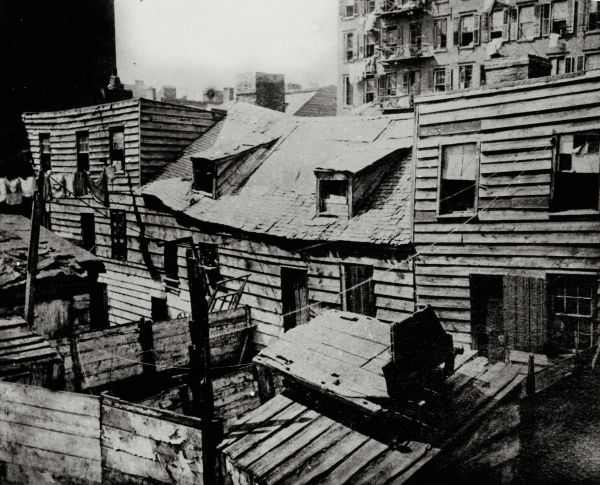 New York rond 1888 - Foto: Jacob Riis