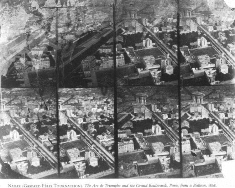 Luchtfoto van Parijs, 1868 - Félix Nadar