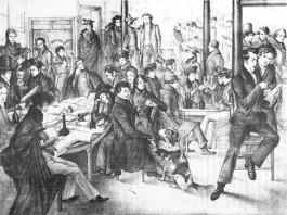 Studenten Sociëteit Minerva te Leiden, ca. 1830