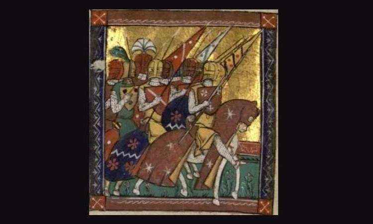Godfried van Bouillon leidt het leger naar Jeruzalem tijdens de Eerste Kruistocht