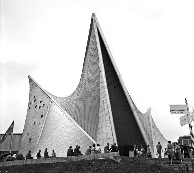 Philipspaviljoen ten tijde van de wereldtentoonstelling