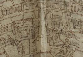 Detail van de tekening
