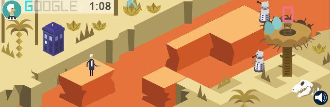 Een van de levels uit het Doctor Who-spel
