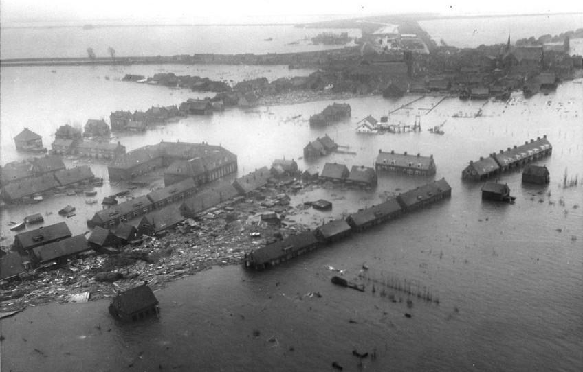 Luchtfoto van Zuid Beveland (Foto: US Army)