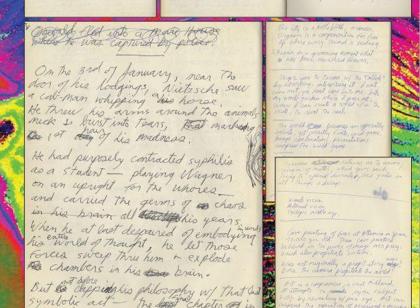Pagina's uit het notitieboekje van Jim Morrison - Afb: .profilesinhistory.com