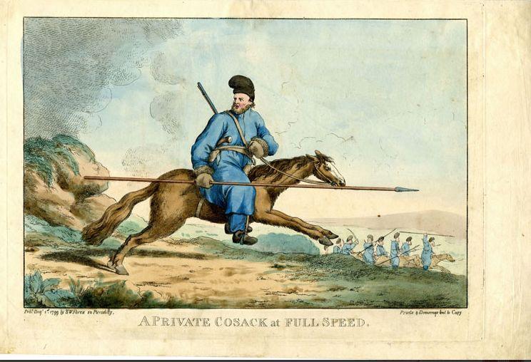 Kozak te paard - Afb: Museum Geelvinck