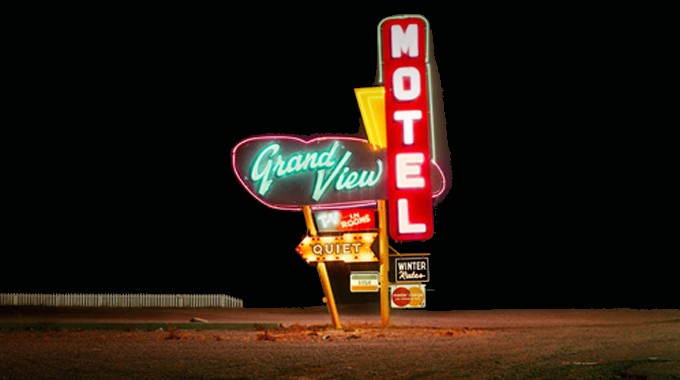 Steve Fitch Grand View Motel, Highway 85, Raton, New Mexico, 1980