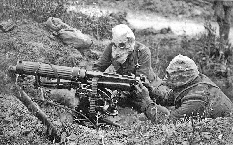 Foto genomen tijdens de Slag aan de Somme (Imperial War Museums)