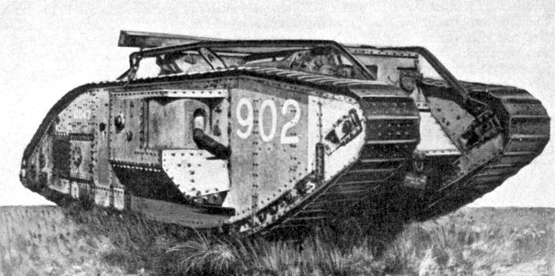 Britse tank tijdens de Eerste Wereldoorlog