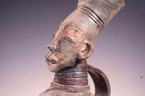 Deel van een kruik, uit Congo - Collectie Afrika Museum, Berg en Dal